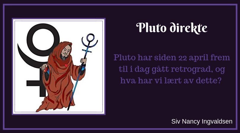 Pluto går direkte igjen