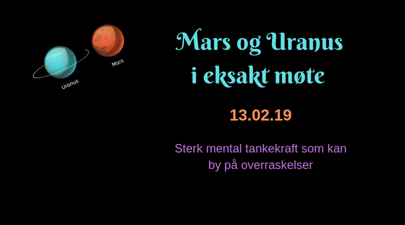 Uranus og Mars i eksakt møte
