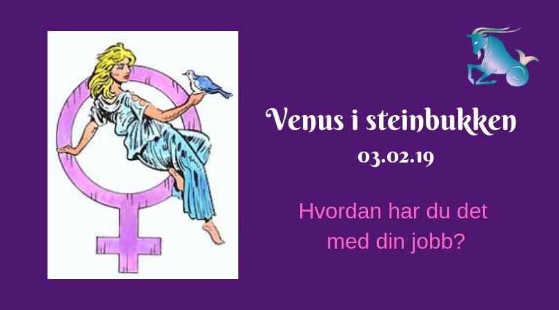 Venus i steinbukken – 03.02.19