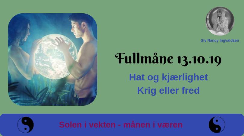 Fullmåne 13.10.19 – kl. 23:07
