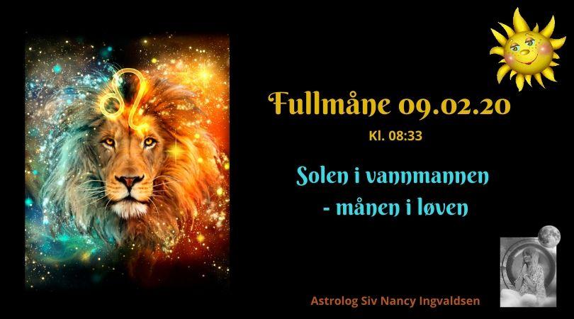 Fullmåne i løven – 09.02.20