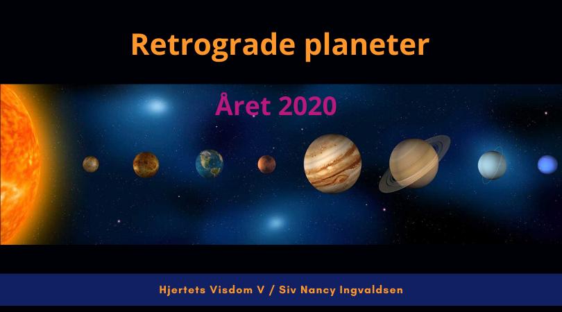 Retrograde bevegelser i 2020