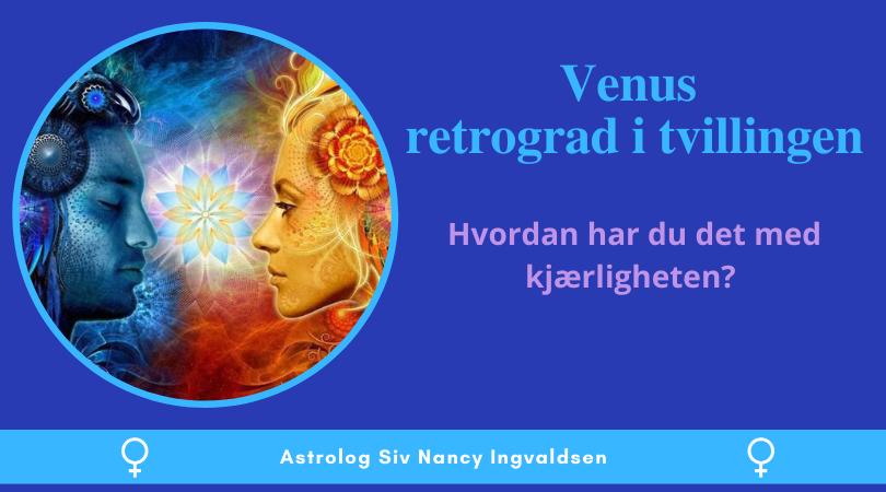 Venus retrograd i tvillingen