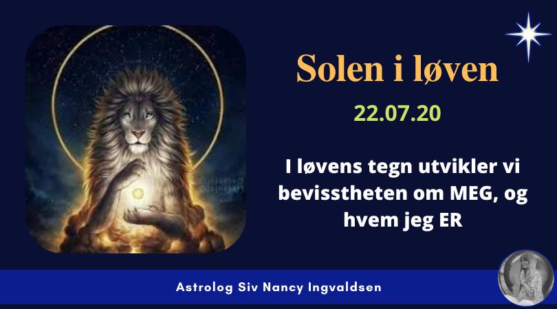 Solen i løven – 22.07.20
